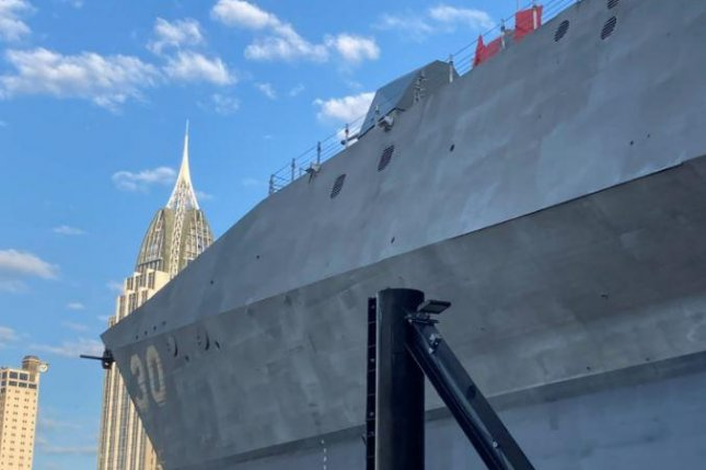 The U.S. Navy's littoral combat ship USS Canberra will be christened on Saturday in Mobile, Ala. Photo courtesy of Austal USA/Facebook