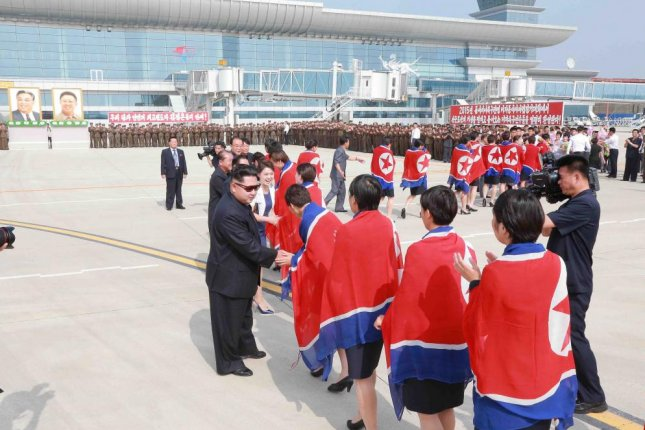 North Korea says it is building thousands of homes in newly cleared land in the Pyongyang International Airport district. The airport was renovated in 2015. File Photo by KCNA/EPA