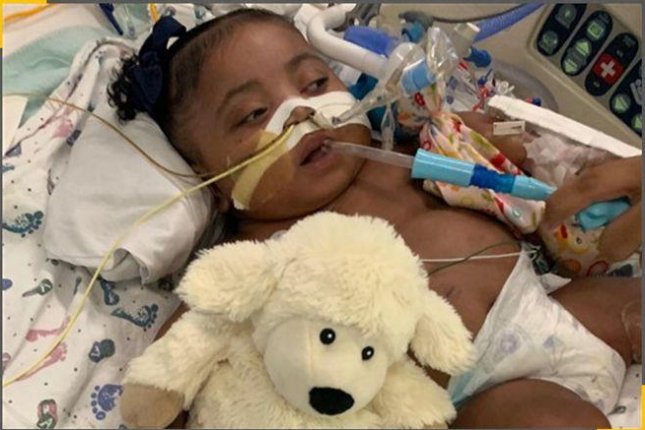 One-year-old Tinslee Lewis has never seen the outside of the intensive care unit of Cook Children's Medical Center in Fort Worth, Texas. Photo courtesy of Texas Right to Life