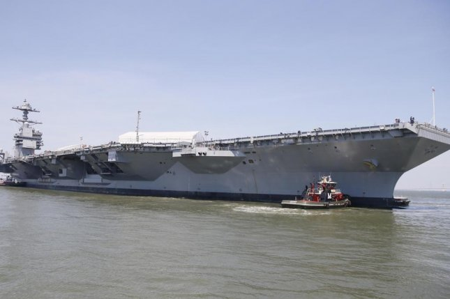 Thousands gather for the commissioning of the USS Gerald R. Ford