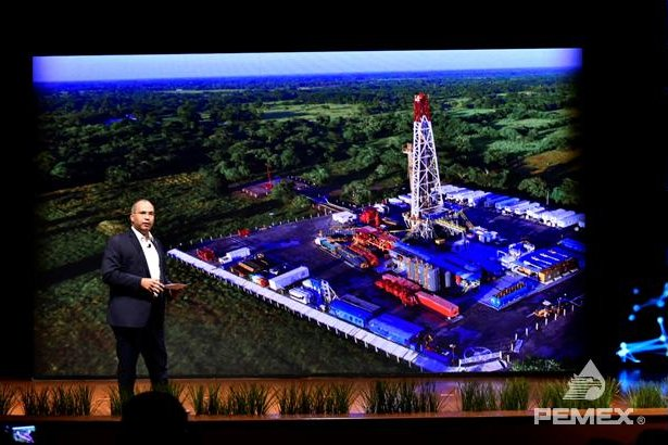 Pemex CEO Carlos Trevino on Tuesday announced what Pemex said is the biggest inland discovery in Mexico in 25 years. Photo courtesy of Pemex