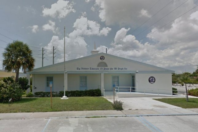 Officers with the Riviera Beach Police Department responding to a shooting Saturday outside theVictory City Church in Riviera Beach, Fla. Image courtesy of Google Maps