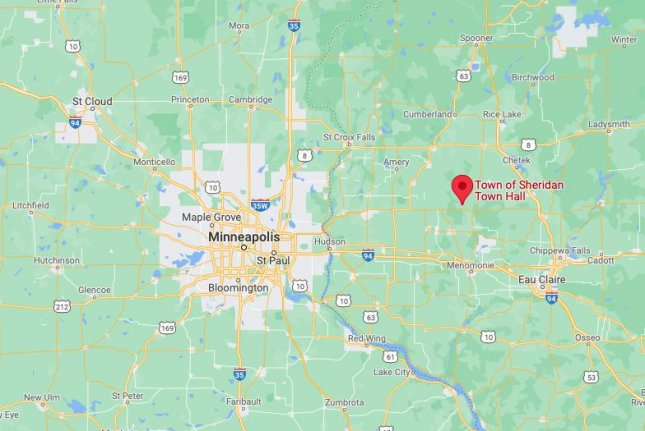 Four bodies were discovered in a Sheridan Township cornfield, about 70 miles east of St. Paul, Minn. Image courtesy of Google Maps