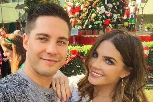 Dean Geyer (L) and Jillian Murray on December 1, 2016. The couple tied the knot Thursday in California. Photo by Jillian Murray/Instagram