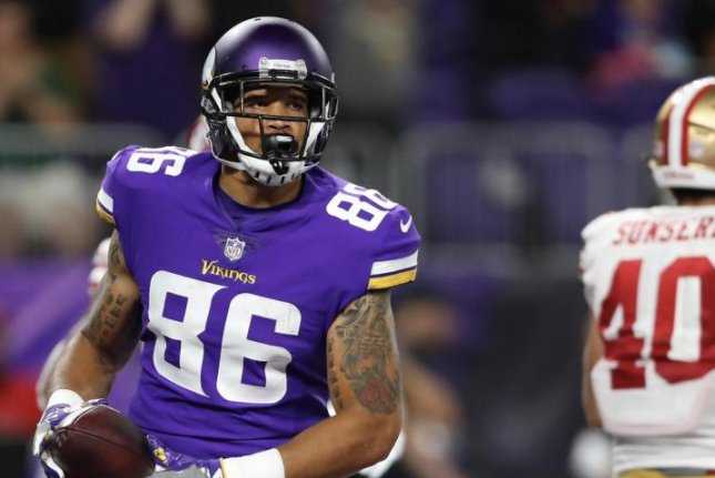 Vikings Upgrade TE Rudolph to Questionable for Sunday