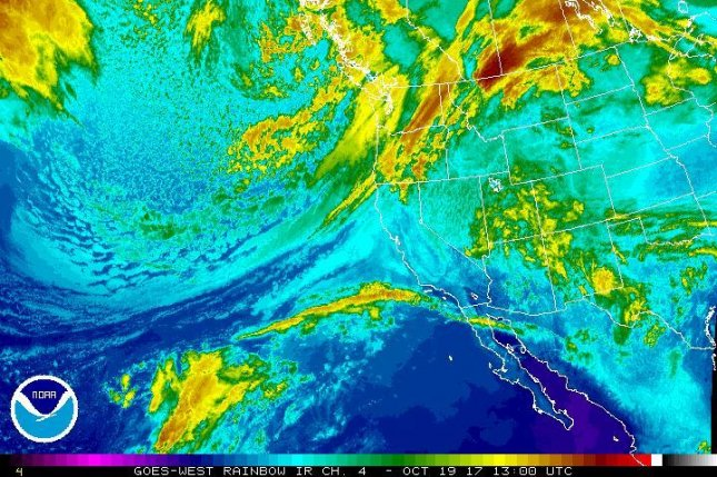 The atmospheric river hitting the Pacific Northwest stretches 5,000 miles and came from Asia. Photo courtesy of NOAA