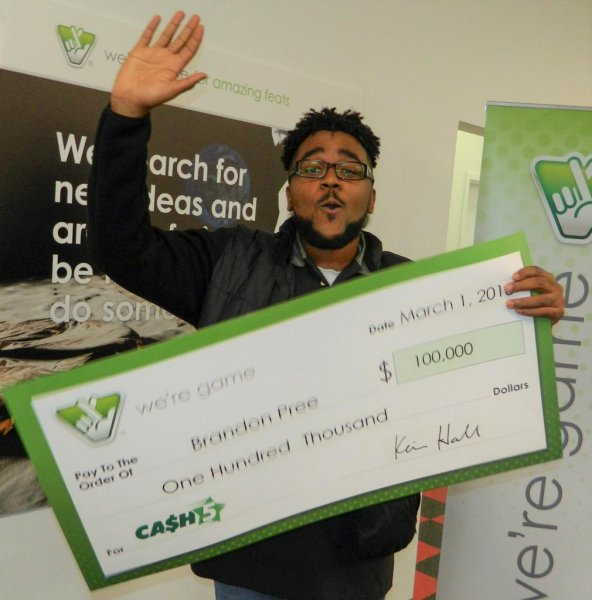 Brandon Pree said he won $100,000 from the Virginia Lottery thanks to the advice of his mother. Photo courtesy of the Virginia Lottery