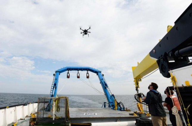 The U.S. Navy tested the capabilities of a quadcopter drone, to be used as a target in laser firing, at Port Hueneme, Calif. Photo by Dana White/U.S. Naval Sea Systems Command