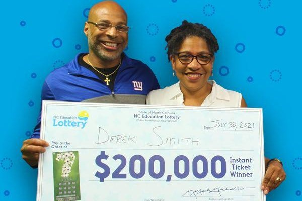 Derek Smith, of Winston-Salem, N.C., said winning a $50 prize from a scratch-off lottery ticket led to his buying a second ticket that brought a $200,000 jackpot. Photo courtesy of the North Carolina Education Lottery