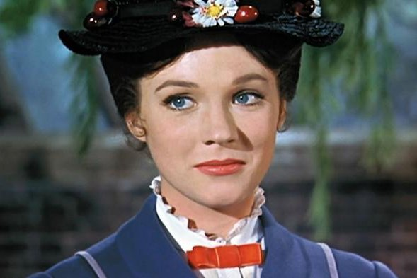Julie Andrews as Mary Poppins in the 1964 film 'Mary Poppins.' Photo courtesy of Disney