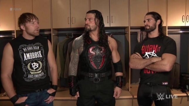 Wwe raw the miz escapes defeat roman reigns reunion with the l r dean ambrose roman reigns and seth rollins meet backstage on raw monday teasing the return of the shield photo courtesy of wwetwitter m4hsunfo