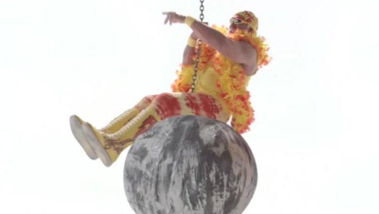 Miley Cyrus Wrecking Ball Christmas Ornament.Hulk Hogan Spoofs Miley Cyrus Wrecking Ball Video Video
