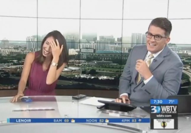 North Carolina news anchors erupt in laughter after on-air