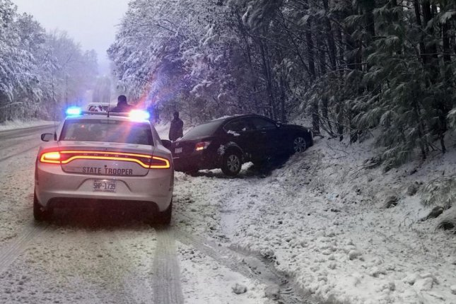 Officials said black ice caused crashes throughout North Carolina. Photo courtesy of the North Carolina Highway Patrol