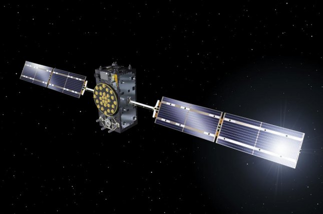Artist's view of one of Galileo's Full Operational Capability satellites. The fifth and sixth Galileo satellites launched together on 22 August 2014. Photo courtesy ESA/J. Huart