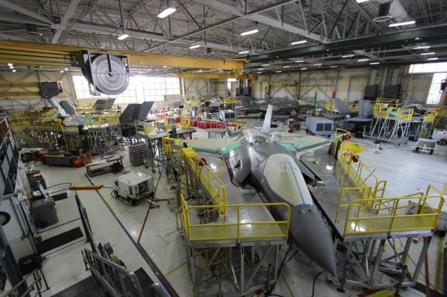 The U.S. Navy has announced a laser shock peening facility at Cherry Point, N.C., and a $74.9 million electronic warfare contract with BASE Systems, on Tuesday to improve the F-35's electronic warfare system. Photo by Heather Wilburn/U.S. Navy/UPI