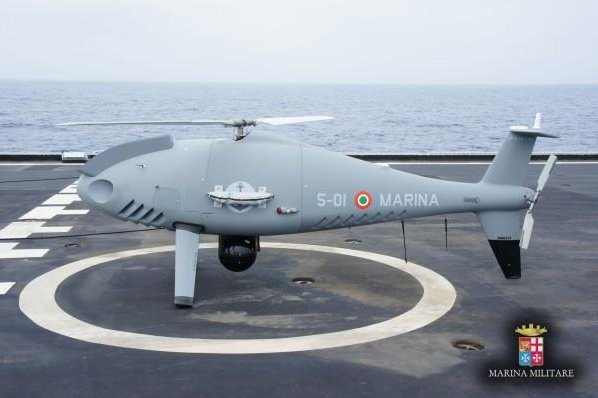 A Camcopter S100 drone being evaluated by the Italian Navy. (Italian Navy)