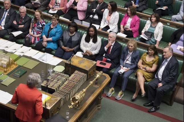 British Prime Minister Theresa May could be forced to step down as Brexit talks continue to break down in Parliament. Photo by Jessica Taylor/EPA-EFE