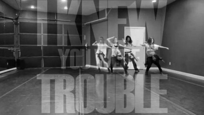 Selena Gomez dances to 'I Knew You Were Trouble'.