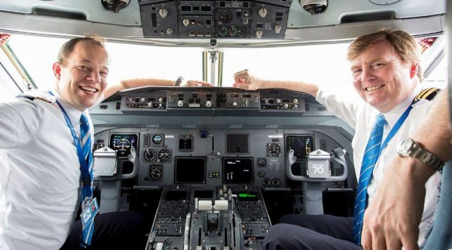 Dutch king reveals secret job as KLM pilot