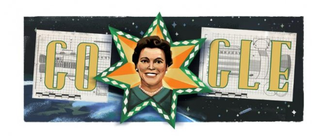 Google is paying homage tot he first American Indian female engineer Mary G. Ross with a new Doodle. Image courtesy of Google