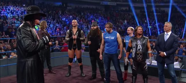 The Undertaker warned Team Smackdown on Tuesday that if they do not defeat Team Raw at Survivor Series, they will have to deal with him. Photo courtesy of WWE/YouTube