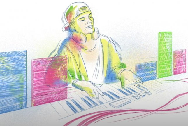 Google is paying homage to DJ Tim Bergling, also known as Avicii, with a new Doodle. Image courtesy of Google