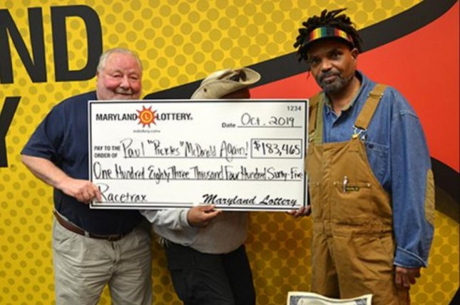 A Maryland man won a $183,465.90 jackpot from the state lottery's Racetrax game, marking his third major prize and his second-largest. Photo courtesy of the Maryland Lottery