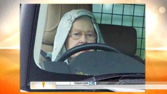 Queen Elizabeth Wears A Hoodie Drives Range Rover Video