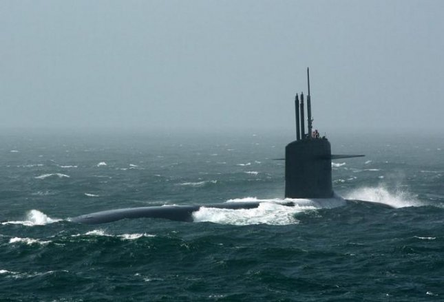 The French Navy submarine Le Temeraire test-fired a ballistic missile across the Atlantic Ocean on Friday. Photo courtesy of the French Navy