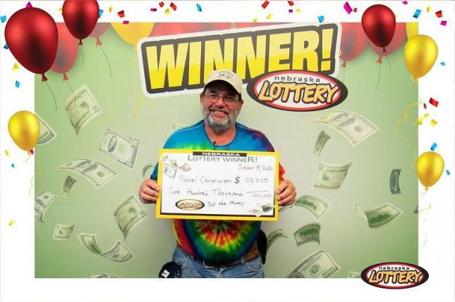 Michael Christiansen of Norfolk, Neb., collected a $100,000 top prize from a scratch-off lottery ticket just months after winning $50,000 from a ticket purchased at the same store. Photo courtesy of the Nebraska Lottery