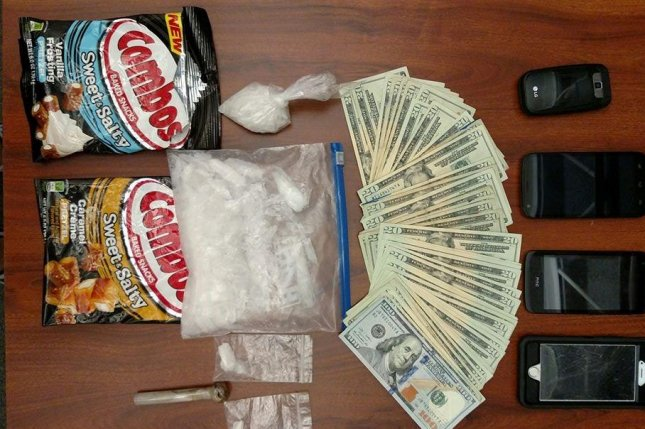 Authorities in Ohio found a quarter pound of meth hidden inside Combos snack wrappers. Photo by the Butler County Sheriff's Office/Facebook