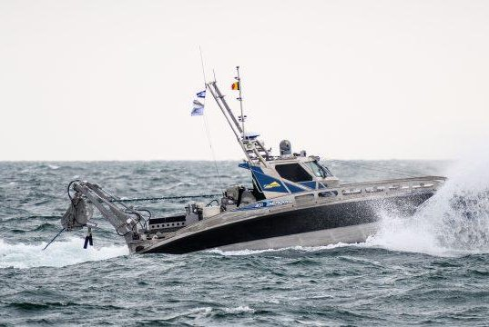 The Seagull unmanned counter-mine vessel shows its capabilities during bi-national sea trials, Photo courtesy Elbit Systems