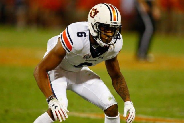 Auburn cornerback Carlton Davis will not play in the Chick-fil-A Peach Bowl against Central Florida on Monday as he deals with an illness, coach Gus Malzahn said Sunday. Photo courtesy of Auburn Football/Twitter