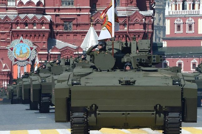 Production of 250 new Russian armored personnel carriers, which impressed observers at Moscow's Victory Day parade, will begin June 1. Photo courtesy: Office of the Russian president.