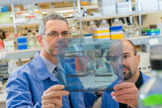 Dr. Panos Anastasiadis, left, and Dr. Antonis Kourtidis discovered the flaw in a long-held theory of cell proteins involved in the growth of tumors, and used to potentially find a method of halting tumor growth. Photo by Mayo Clinic