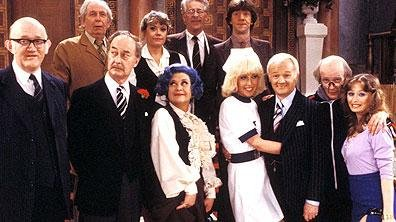 Photo of the original cast of Are You Being Served? courtesy of the BBC.