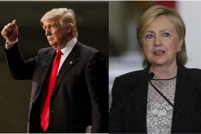 Hillary Clinton's lead over Donald Trump in the UPI/CVoter daily presidential tracking poll has declined to less than 1 percent. UPI photos