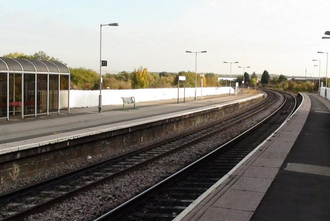 Trains were forced to slow down atWellingborough Railway Station in England when a horse wandered out onto the tracks. Photo by Onewhohelps/Wikimedia Commons