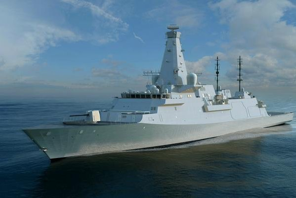 BAE Systems's concept of the Royal Navy's Type 26 frigate, which will feature navigational radar supplied by Lockheed Martin. Image courtesy BAE Systems
