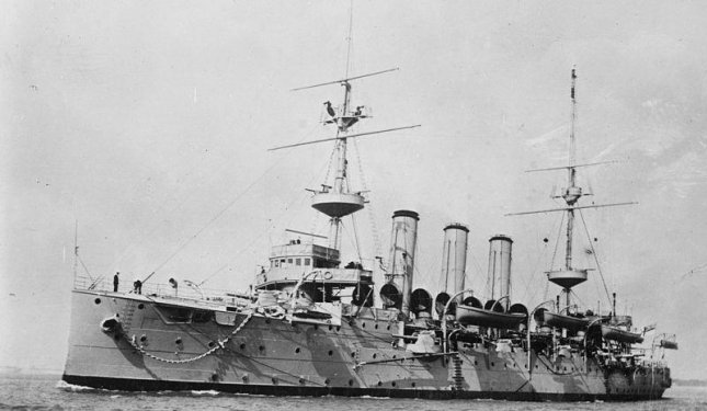 Two men were charged with the theft of artifacts from the HMS Hermes, sunk in the English Channel by a German submarine in 1914, at the start of World War I. Photo courtesy of U.S. Navy National Museum of Naval Aviation