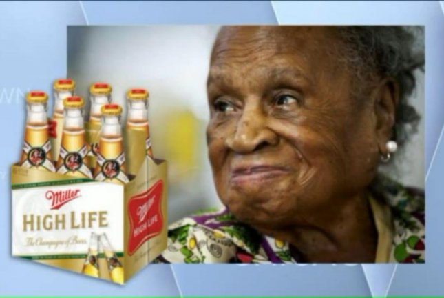 Agnes Fenton, 110, said she had three Miller High Life beers and a shot of Johnny Walker Blue Label every day for about 70 years. WGN-TV video screenshot