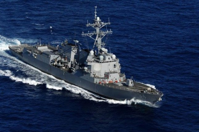 The USS Nitze, seen here, fired cruise missiles on radar sites that had been used to target another American warship, the Pentagon said. Photo courtesy U.S. Navy