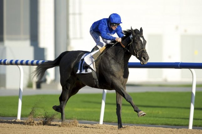 Blue Creek wins at first asking on New Year's Day in Dubai and looks like a UAE Derby candidate for Godolphin Racing. Photo courtesy of DRC
