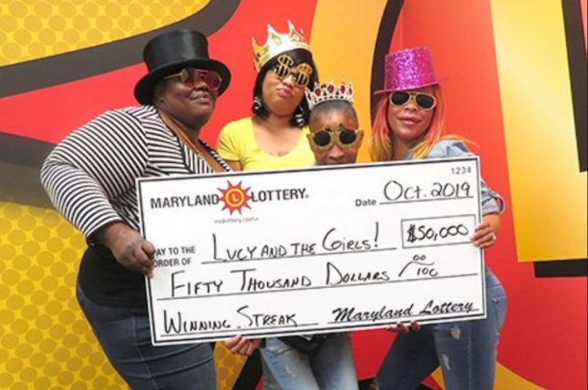 A Maryland woman's three adult daughters all had itchy hands on the same day, leading them to purchase a lottery ticket that won $50,000. Photo courtesy of the Maryland Lottery