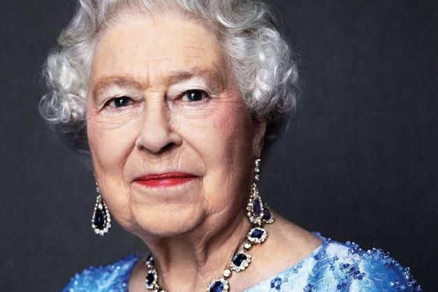 To mark Queen Elizabeth's 65 years on the throne Monday -- the sapphire jubilee -- this portrait was reissued. It was originally taken in 2014. Photo by David Bailey/The Royal Family/Twitter