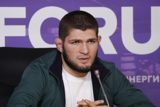 Khabib Nurmagomedov (pictured) said his father recently underwent a heart procedure due to complications stemming from a previous ailment and COVID-19. File Photo by Anatoly Maltsev/EPA-EFE