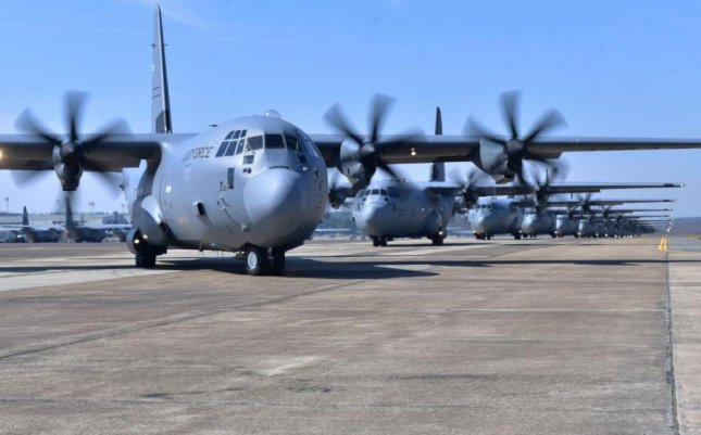 The U.S. Air Force announced four locations on Wednesday -- in Texas, West Virginia, Kentucky and Georgia -- to receive the new C-130J aircraft. Photo courtesy of U.S. Air Force