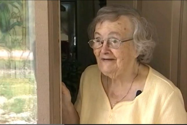 Claire Olsen, 87, was found to be OK when her worried grandson ordered pizza to her house after two days of silence post-Hurricane Matthew.