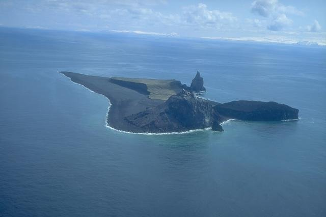 Bogoslof Volcano in Alaska's Aleutian Islands erupted Sunday, prompting air travel alerts in the area. Eruptions since 2015 have tripled the landmass of the island on which the volcano sits. File Photo courtesy the Smithsonian Institute National Museum of Natural History Global Volcanism Program